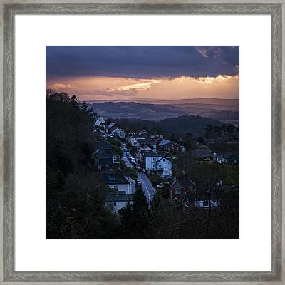 Great Malvern Sunset Framed Print