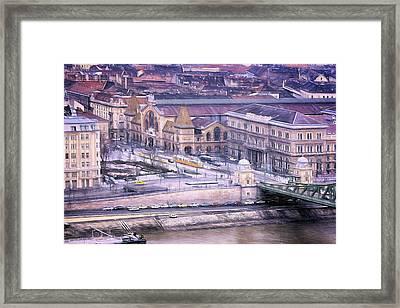 Great Market Hall Budapest Framed Print by Joan Carroll