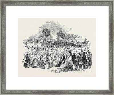 Great Mass Meeting At Providence, Rhode Island Framed Print