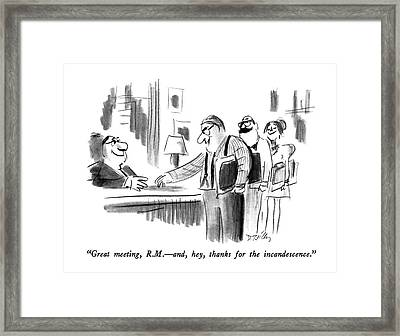 Great Meeting Framed Print by Donald Reilly