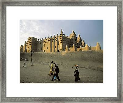 Great Mosque Of Djenn�. S.xiv. Mali Framed Print by Everett
