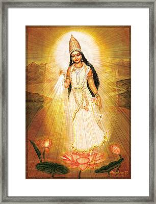 Great Mother Goddess Framed Print by Ananda Vdovic