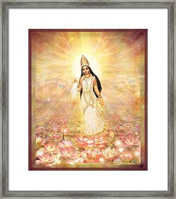 Great Mother Goddess In A Higher Dimension Framed Print