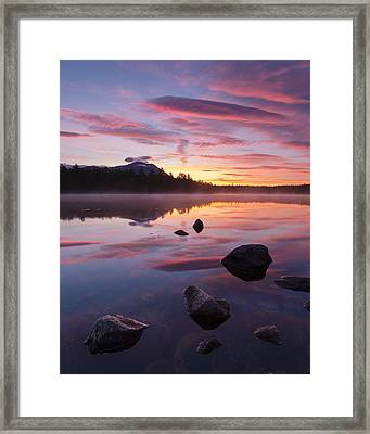 Framed Print featuring the photograph Great Mountain Sunrise by Patrick Downey
