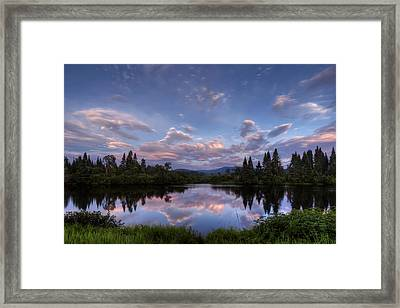 Great North Woods Sunset In New Hampshire Framed Print