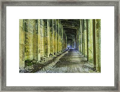 Great Norther Railroad Snow Shed Framed Print by Mark Kiver