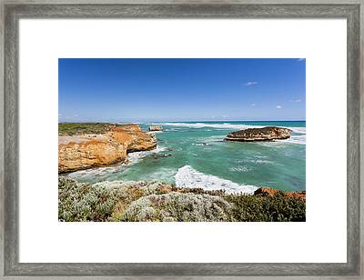 Great Ocean Road Near Peterborough Framed Print by Martin Zwick