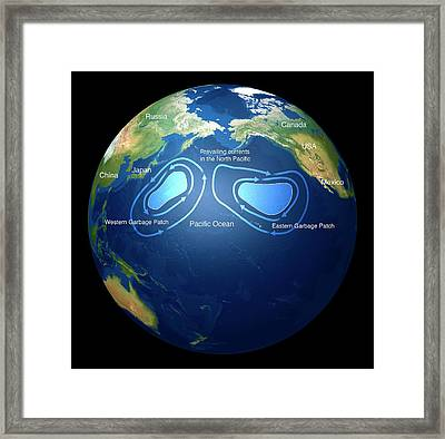 Great Pacific Garbage Patches Framed Print