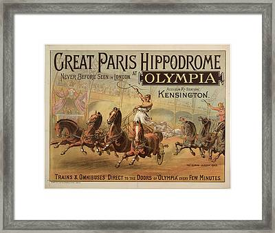 Great Paris Hippodrome At Olympia Framed Print by British Library