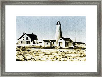 Great Point Lighthouse Nantucket Framed Print by Bill Cannon