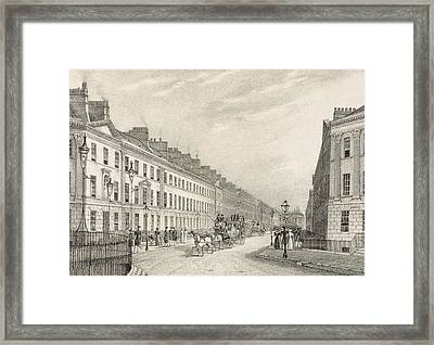 Great Pultney Street, Bath, C.1883 Framed Print by R. Woodroffe