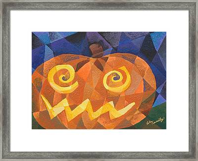 Great Pumpkin Framed Print by Lola Connelly