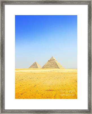Great Pyramid Of Giza Framed Print