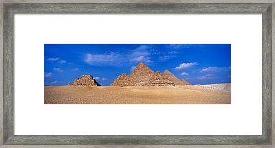 Great Pyramids, Giza, Egypt Framed Print by Panoramic Images