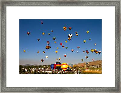 Great Reno Balloon Race Framed Print