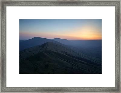 Great Ridge Sunset Framed Print by Darren Galpin