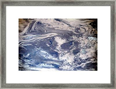 Great Salt Desert Patterns Framed Print by Nasa