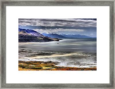 Great Salt Lake From Antelope Island Framed Print