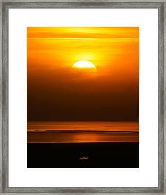 Great Salt Lake Sunset Framed Print by Kirk Strickland