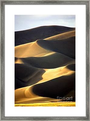 Great San Dunes - Sunset Framed Print by Douglas Taylor
