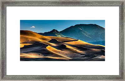 Great Sand Dunes At Dawn Framed Print