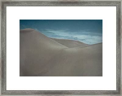Framed Print featuring the photograph Great Sand Dunes by Don Schwartz