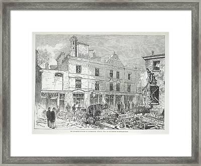 Great Scotland Yard Explosion Framed Print