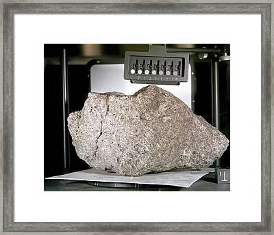 'great Scott' Lunar Rock Sample Framed Print