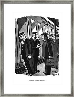 Great Scott! Now What's Happened? Framed Print by Peter Arno