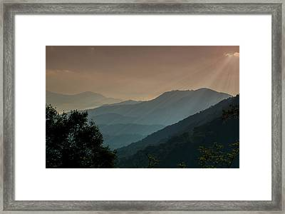 Framed Print featuring the photograph Great Smoky Mountains Blue Ridge Parkway by Patti Deters