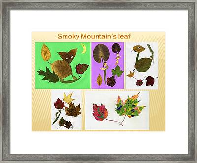 Framed Print featuring the painting Great Smoky Mountain's Leaf by Ping Yan