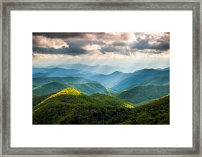 Great Smoky Mountains National Park Nc Western North Carolina Framed Print by Dave Allen