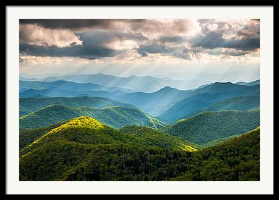 Blue Ridge Mountains Framed Prints