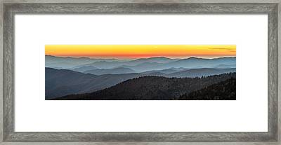 Great Smoky Mountains National Park Sunset Framed Print