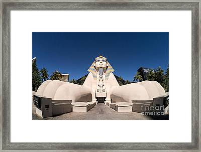 Great Sphinx Of Giza Luxor Resort Las Vegas Framed Print by Edward Fielding