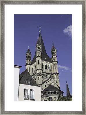Great St Martin Church Tower Cologne Framed Print by Teresa Mucha