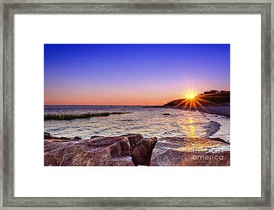Framed Print featuring the photograph Saints Landing Cape Cod by Mike Ste Marie