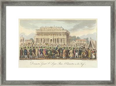 Great St.leger Horse Race Framed Print by British Library