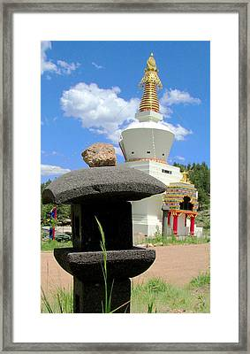 Framed Print featuring the photograph Great Stupa Of Dharmakaya by Brenda Pressnall