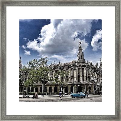 great Theater Of Havana ( Built On Framed Print