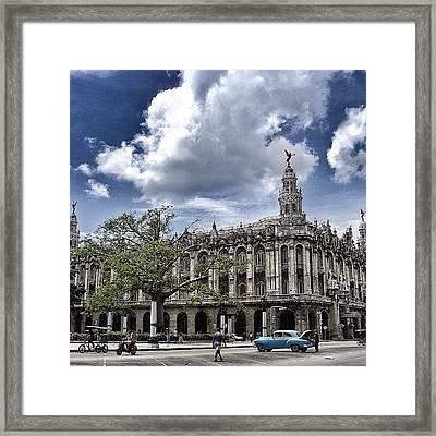 great Theater Of Havana ( Built On Framed Print