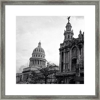 Great Theater Of Havana (1838 - 1914) & Framed Print