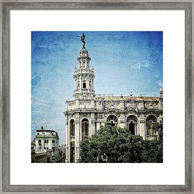 great Theatre Of Havana (1838 - Framed Print