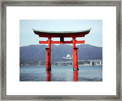 Great Torii Gate Of Miyajima Framed Print