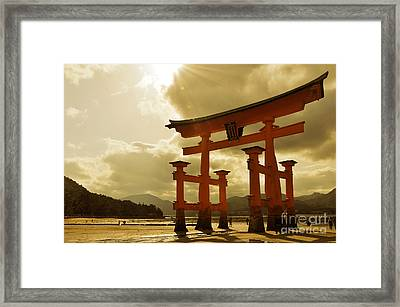 Great Torii Of Miyajima Framed Print by Delphimages Photo Creations