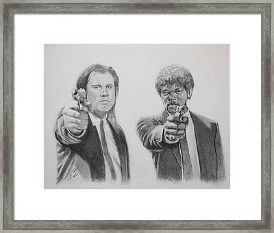 Great Vengeance And Furious Anger Framed Print by Caleb Goodman