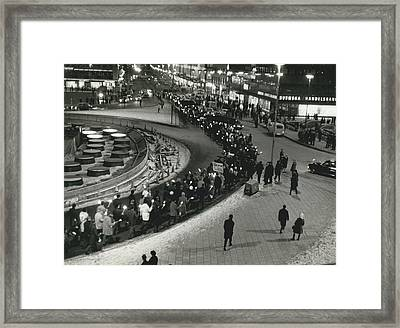 Great Vietnam-demonstration In Stockholm Framed Print by Retro Images Archive