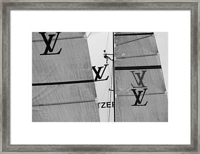 Great View Of Lv Framed Print by Chris Cameron