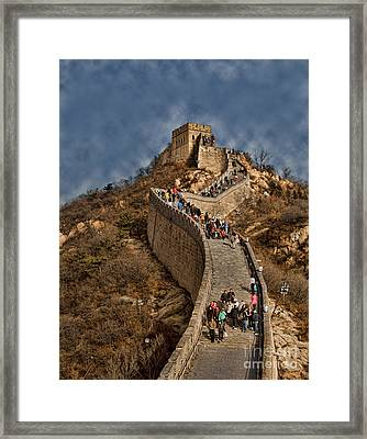 Framed Print featuring the photograph Great Wall O China by Shirley Mangini
