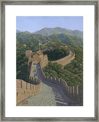 Great Wall Of China Mutianyu Section Framed Print by Richard Harpum